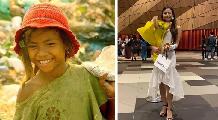 Hon bodde på en soptipp och började skolan först vid 11-års ålder - idag har hon tagit studenten och har börjat plugga på universitetet