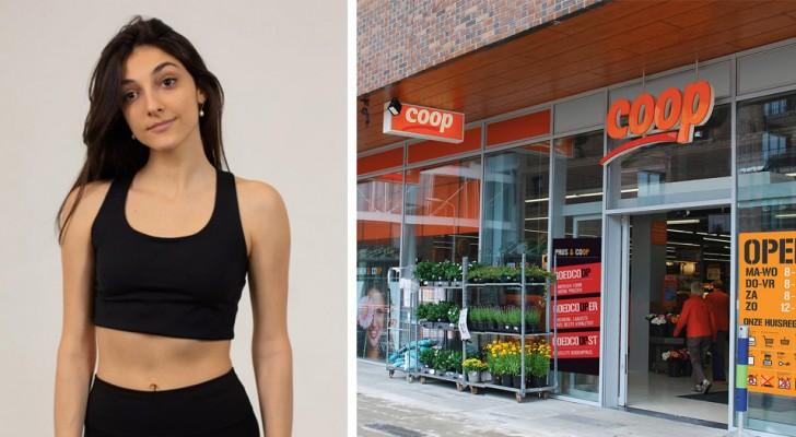 No la dejan entrar al supermercado debido a su vestimenta deportiva: