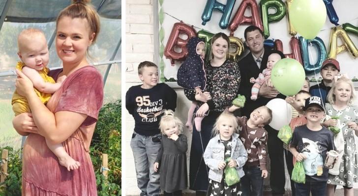 Una mamá de 38 años cuenta la vida con 12 hijos: