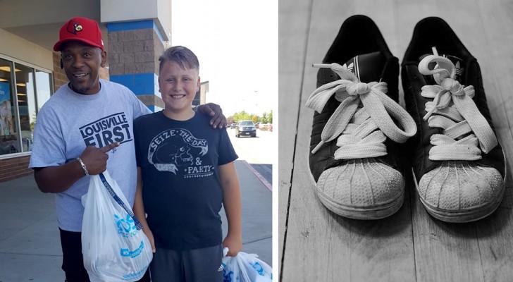 Elle n'a que 20 dollars à dépenser pour acheter des chaussures à son fils, mais un homme généreux lui propose de les lui acheter