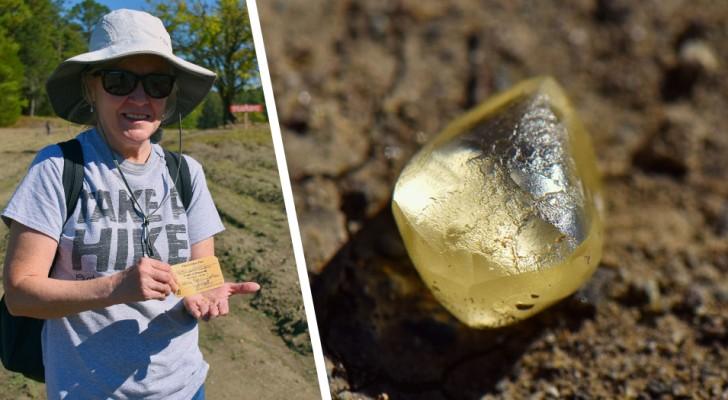 Donna trova una pietra in un parco pubblico, poi scopre che è un diamante giallo da 4 carati