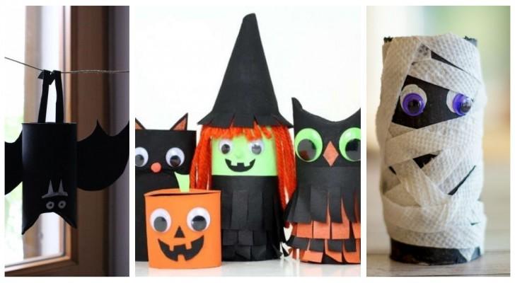 Halloween : créez des décorations sympas en recyclant les rouleaux de papier toilette avec créativité