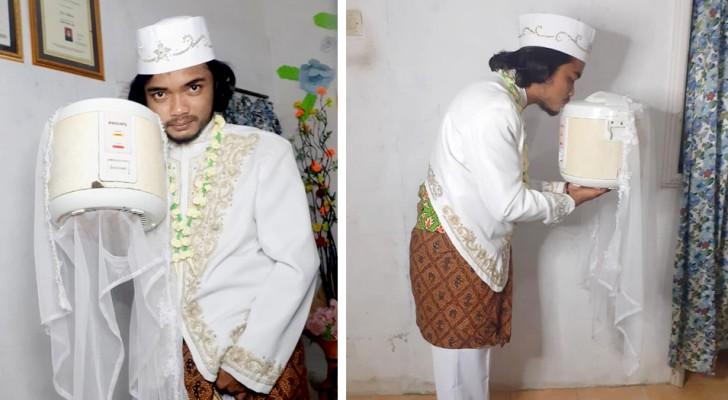 Se casa con su máquina para cocinar el arroz y se divorcia en solo 4 días: