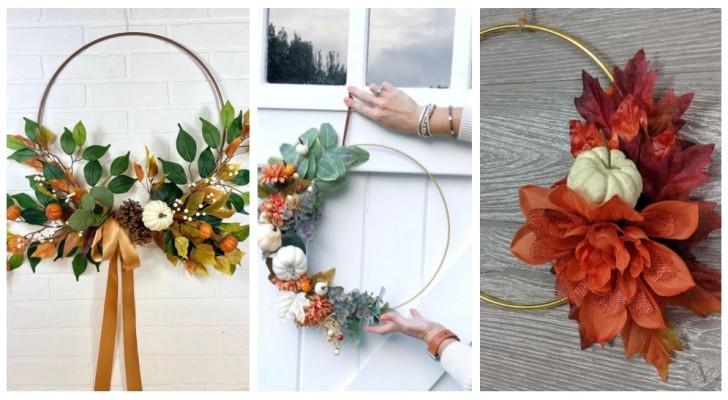 Couronnes d'anneaux : découvrez comment en réaliser de très belles pour décorer la maison pendant l'automne, mais pas seulement