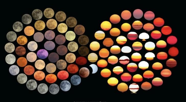 Fotografa impiega 10 anni a catturare le 48 sfumature di colore della Luna