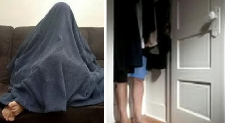 La polizia trova un uomo ricercato nascosto sotto una coperta: si vedevano i piedi