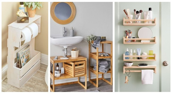 Vous devez faire de la place dans la salle de bain ? Testez des solutions pratiques comme celles-ci