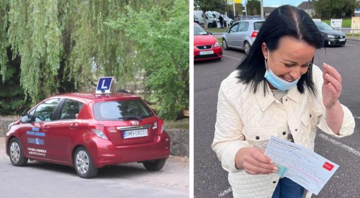 Donna supera finalmente l'esame pratico di guida dopo averlo tentato per 27 anni