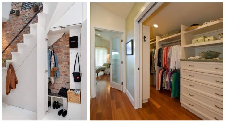 Vous n'avez pas de place pour mettre une garde-robe dans votre chambre ? Regardez comment vous pourriez l'insérer dans le séjour