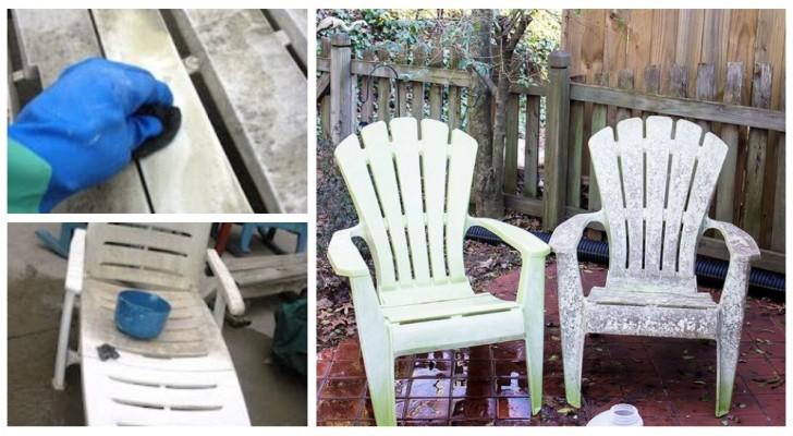 Retrouvez un mobilier de jardin en plastique comme neuf avec cette astuce simple