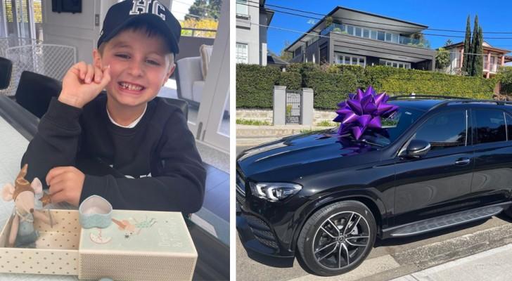 Hon hade gett sina barn en bil värd 165 000 euro och nu ber sonen tandfen om 125 euro