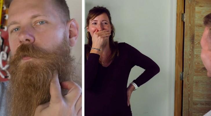 Er rasiert sich nach acht Jahren den Bart ab und verblüfft damit alle: Auch seine Frau hat jetzt Mühe, ihn wiederzuerkennen