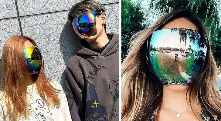 Een Japans bedrijf maakt integrale zonnebrillen: ze bedekken het hele gezicht als een vizier