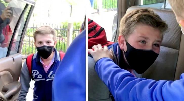 Due piccoli amici si riabbracciano dopo 3 anni in cui hanno vissuto distanti: una scena che scalda il cuore (+VIDEO)