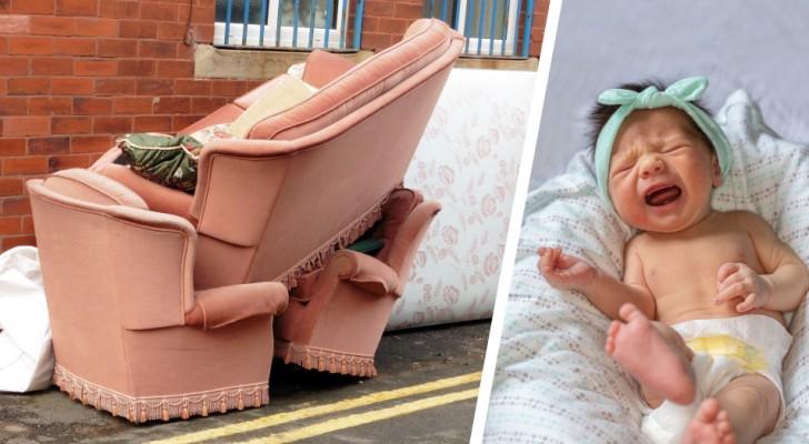 Donna riceve lo sfratto da casa perché la figlia di 18 mesi non smette di piangere