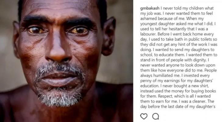 Er reinigt jeden Tag Abwasserkanäle, damit seine Töchter studieren können: eine bewegende Geschichte
