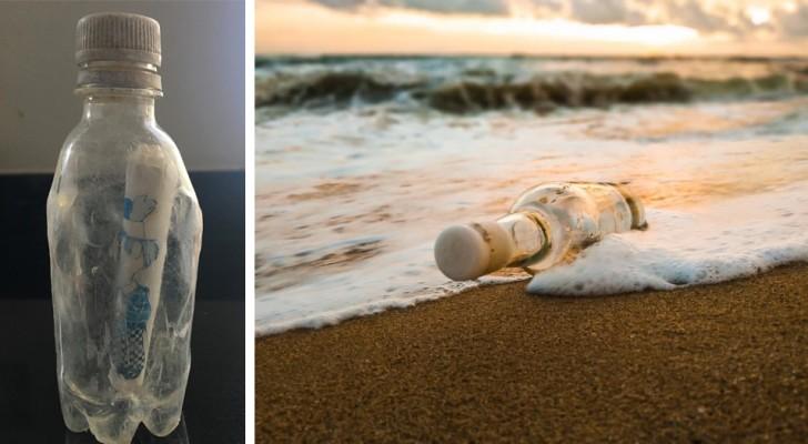 Han hittar ett meddelande i en flaska i havet som är 24 år gammalt och lyckas dessutom spåra personen som det skrevs till