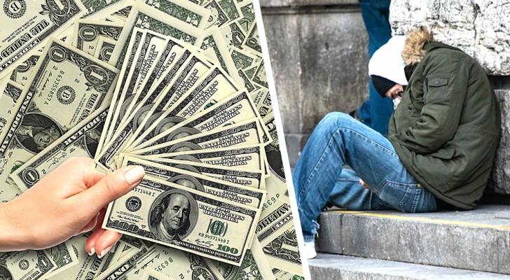 Ils donnent 100 000 dollars à un sans-abri et le laissent libre de tout dépenser : l'expérimentation sociale