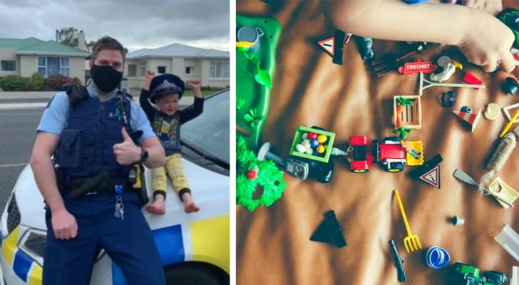 En 4-årig kille ringer polisen för att han vill visa dem sina leksaker och polisen går med på det (+VIDEO)