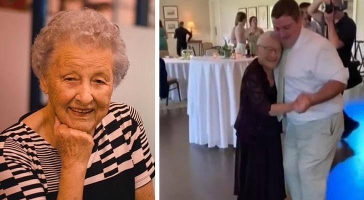Nonnina di 97 anni sconfigge il cancro e va al matrimonio di suo nipote: