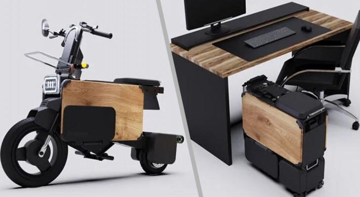 Arriva lo scooter elettrico che si richiude su se stesso: è così compatto che entra sotto un tavolo