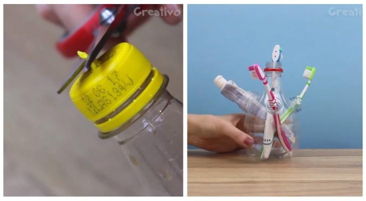 Bottiglie di plastica da buttare? Scopri come ricavarne oggetti utili in modo creativo (+ VIDEO)