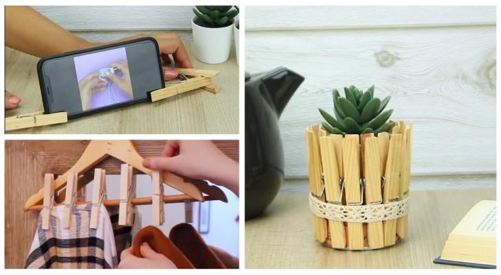 Non solo bucato: scopri come riutilizzare le mollette di legno in tanti modi creativi (+ VIDEO)