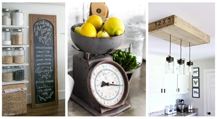 Aggiungi qualche piacevole tocco rustico in cucina cucina arredando in perfetto stile farmhouse