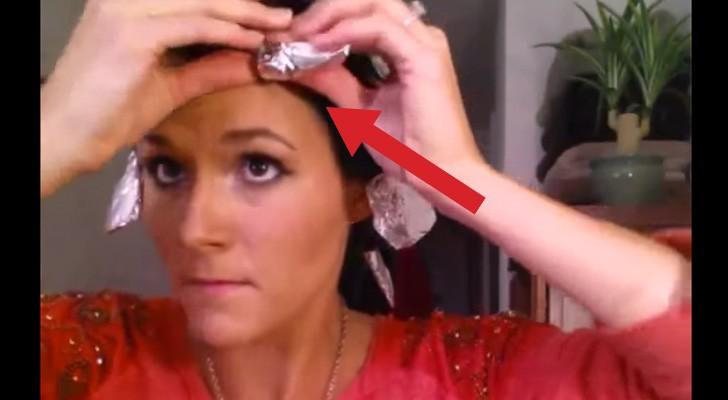 Coloque alumínio no seu cabelo. Quando remover, o resultado será incrível!