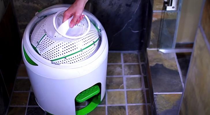 Denna tvättmaskin ser konstig ut, men den är riktigt INNOVATIV!
