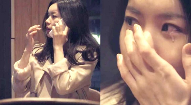 Her boyfriend leaves her alone at the restaurant... shortly after she understand why. Wow!