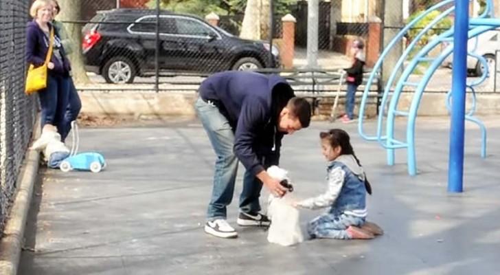 Een onbekende met zijn puppy benaderd een kind: de uitslag van dit experiment is indrukwekkend