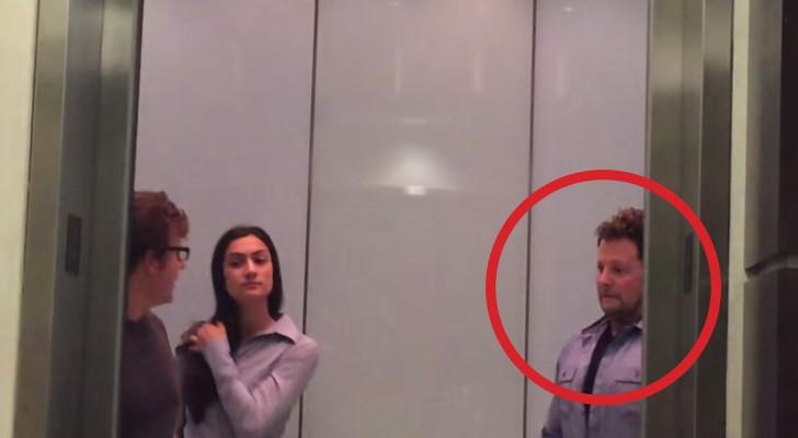 Delle persone entrano in ascensore... ma ciò che fa l'uomo a destra è DIABOLICO!