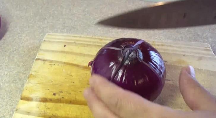 Faz quatro cortes em uma cebola: veja este truque simples e que traz um resultado belíssimo!