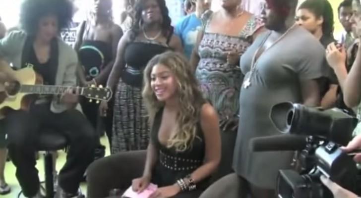 Beyoncé skapar glädje bland de cancer sjuka barnen & deras familjer