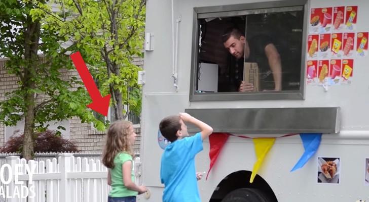 Deze kinderen worden uitgenodigd door een man in een nep ijscowagen om binnen te komen: hun reactie is verontrustend!