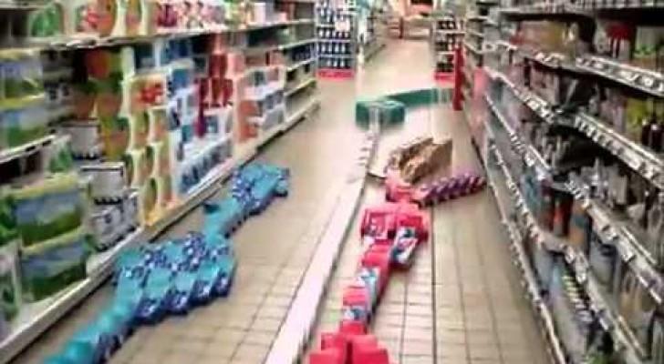 Domino au supermarché!