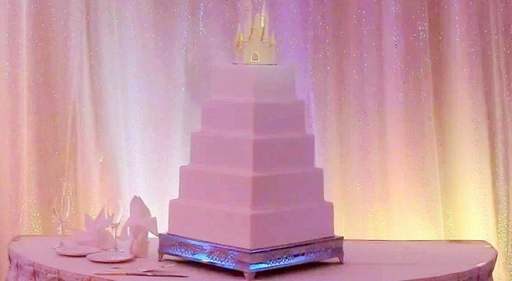 Det ser ut som en normal bröllopstårta, men den gömmer en drömlik hemlighet...