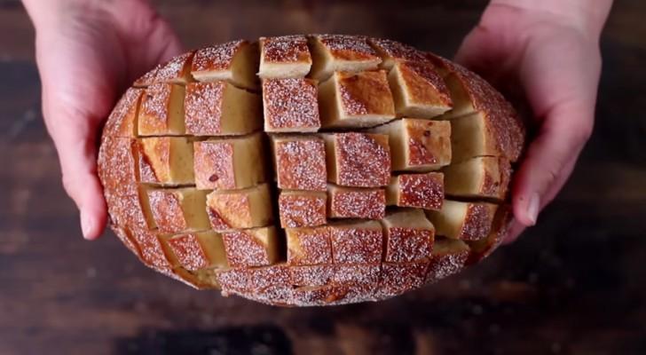 Even het brood insnijden en een paar minuten later zet je een heerlijke snack op tafel!
