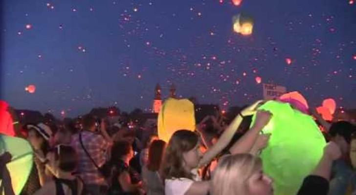 Lanterne cinesi a migliaia