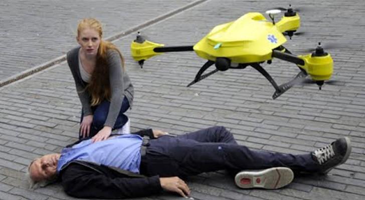 Een man heeft een hartaanval: kijk hoe ze in Nederland binnen 2 MINUTEN hulp kunnen bieden!