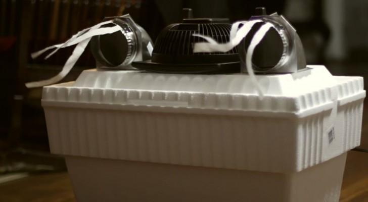 Bara några euro och en innovativ design: den här luftkonditionering kommer att förvåna er!
