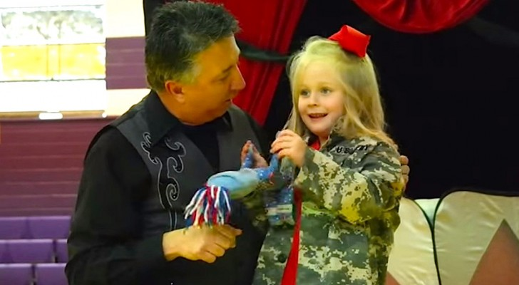 This girl thinks its a normal magic trick, but she'll receive an emotional surprise