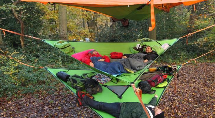 Questa nuova linea di tende e amache sospese può rivoluzionare la tua idea di campeggio