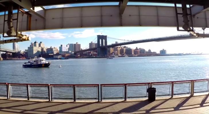 Hacen volar un drone sobre New York...las imagenes parecen tomadas de un videojuego!