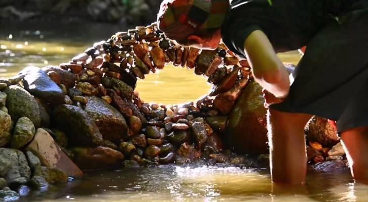 De kunst van het evenwichtig plaatsen van stenen: de onmogelijk sculpturen van Michael Grab