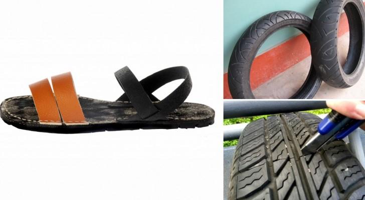 Scoprite come creare dei sandali usando un semplice pneumatico