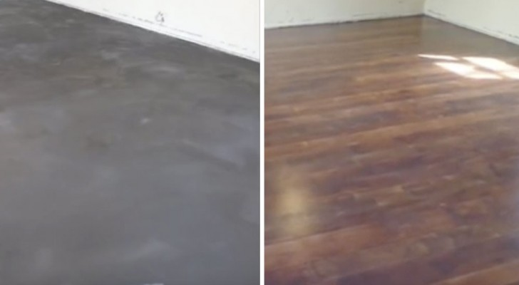 It looks like a WOODEN floor, but it's CEMENT: here's how it works !