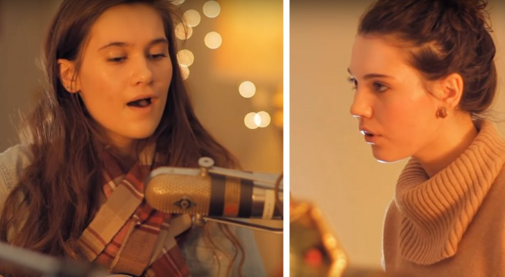 2 sisters sing a classic song ... their voices together are incredible !