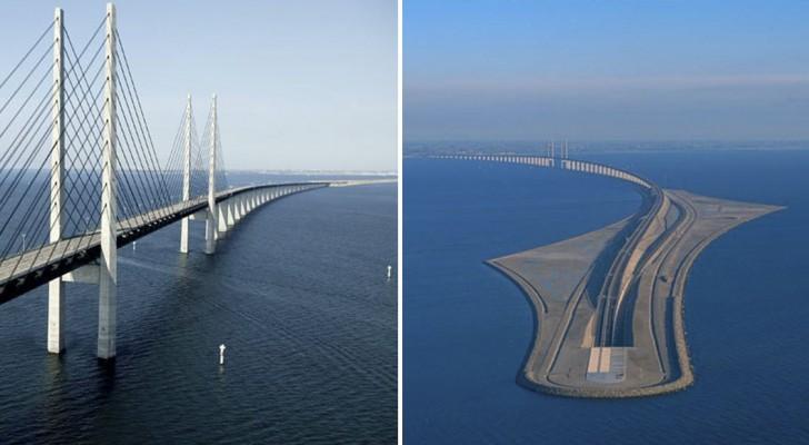 Metà sospeso, metà sotto il mare: ecco il ponte